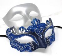 Blue and Silver Flick Masks